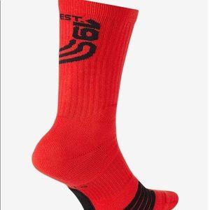 Nike Mens Kyrie Elite Basketball Crew Socks
